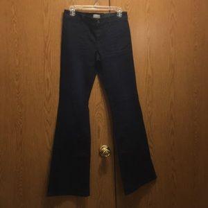 Banana republic wide legs dark denim jeans